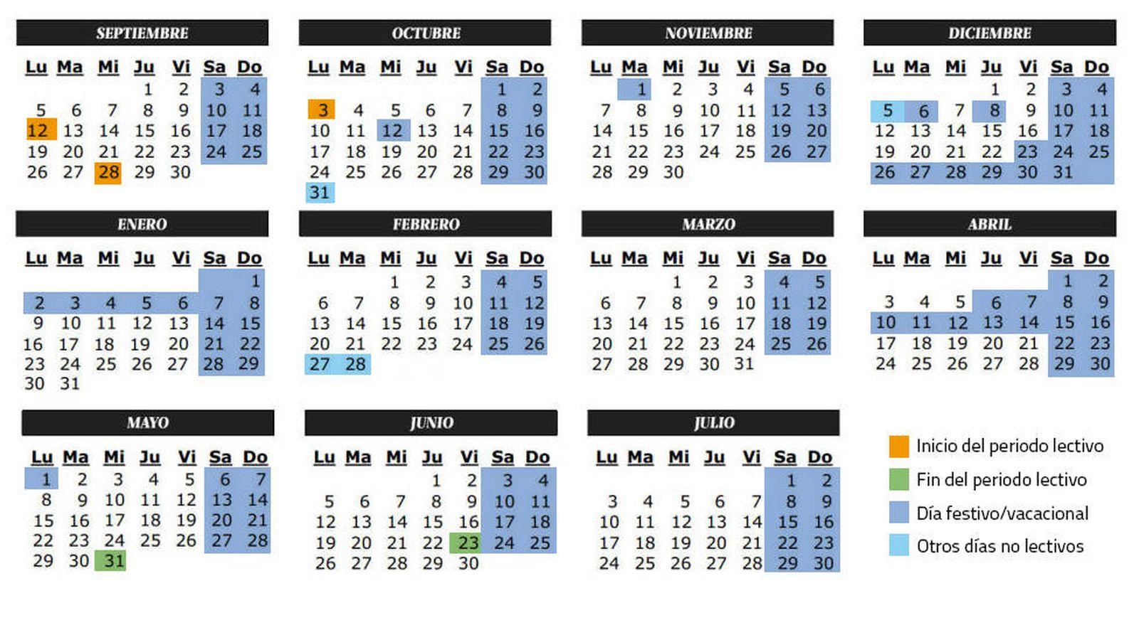Calendario Escolar 18 19 Cantabria.Vacaciones Calendario Escolar Del Curso 2016 2017 En