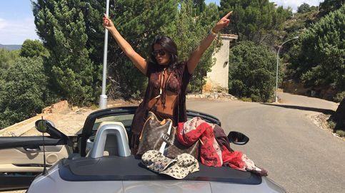 Aida Nízar se cae de una moto al grabar un vídeo para Instagram