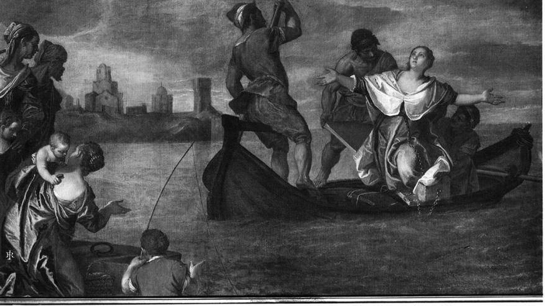 'Santa Cristina siendo conducida al lago de Bolsena', obra de Paolo Veronese del siglo XVI