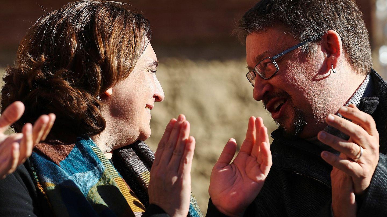 Xavier Domènech y Ada Colau en una foto de archivo de 2017. (EFE)