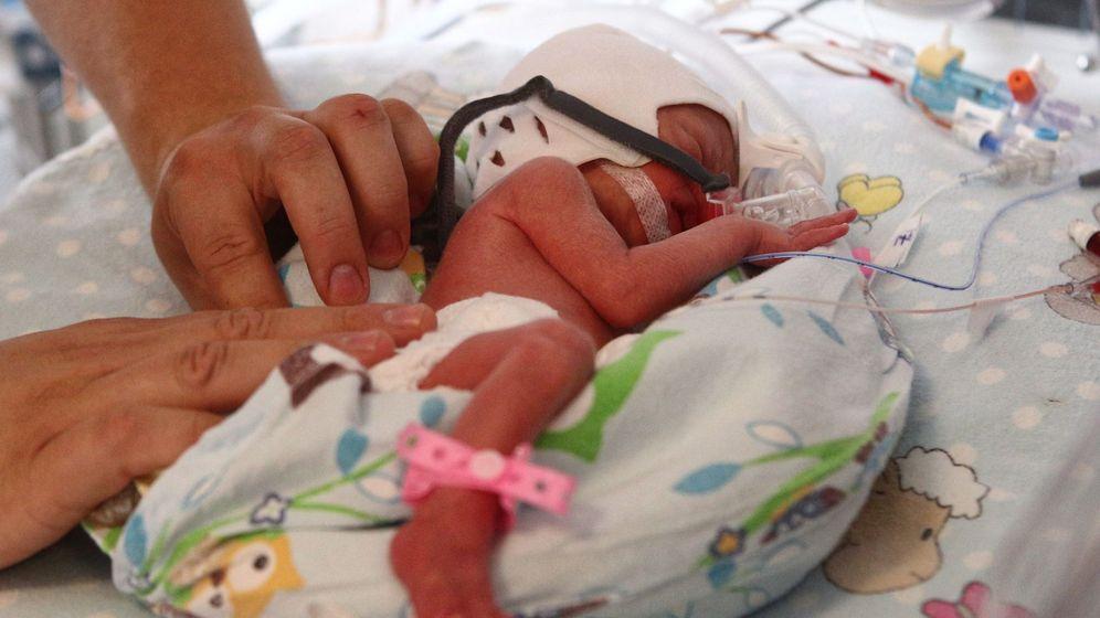 Foto: Un bebé recién nacido