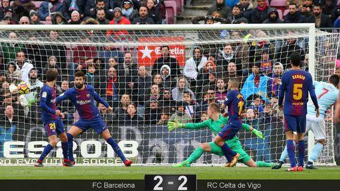 El Barcelona tropieza ante el Celta en el Camp Nou y agita la Liga