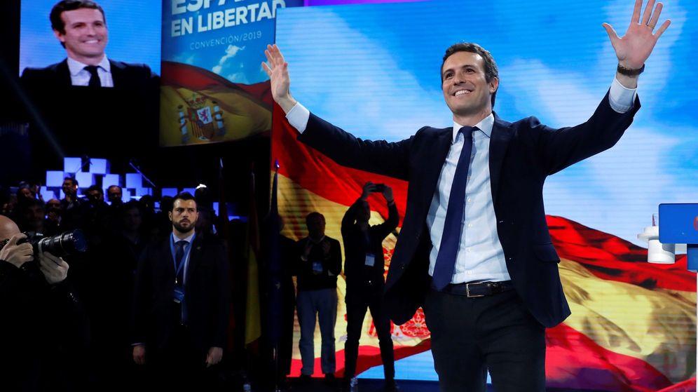 Foto: Pablo Casado, en la convención nacional del PP. (EFE)
