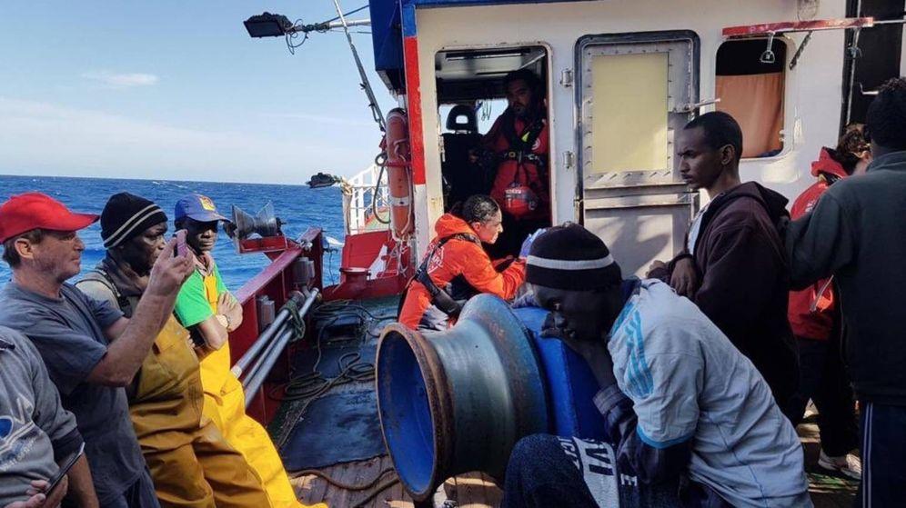 Foto: A bordo del barco Nuestra Madre Loreto. (Open Arms)