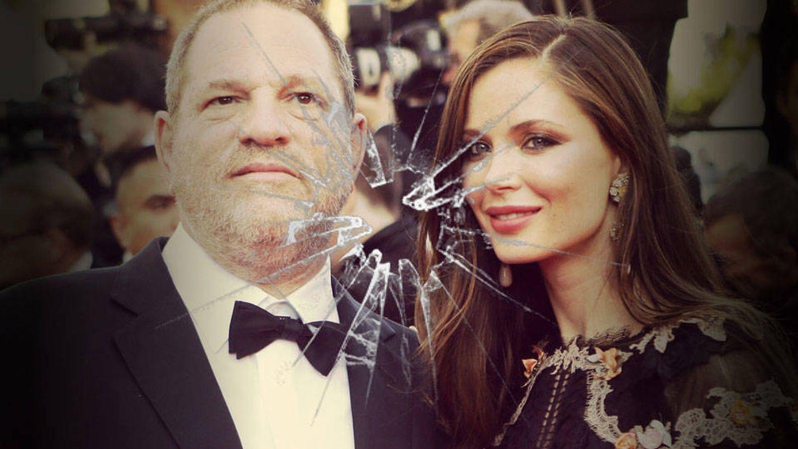 Foto: Harvey Weinstein y Georgina Chapman en un fotomontaje de Vanitatis.