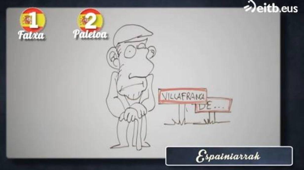 Foto: Una de las caricaturas mostradas durante el programa 'Euskalduna naiz, eta zu?' en el que se insultaba a los españoles.