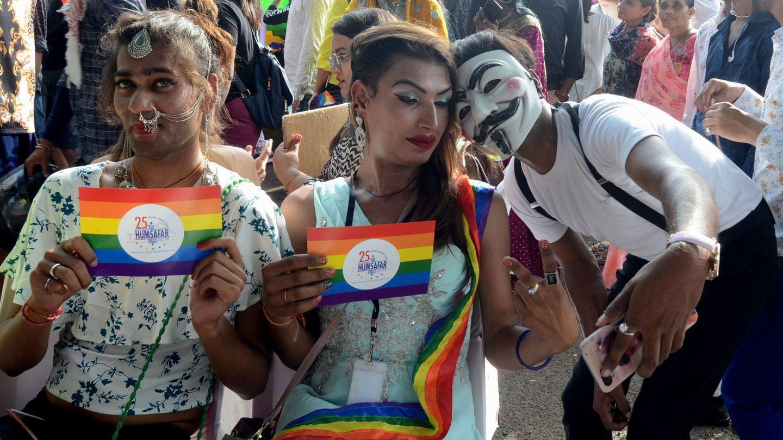 Manifestantes en el Día del Orgullo. (Reuters)