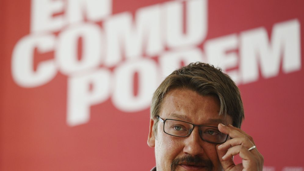 Foto: Xavier Domènech, líder de En Comú Podem en el Congreso de los Diputados. (EFE)