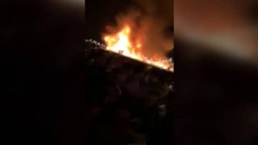 Impresionante incendio en Guatemala para dar la bienvenida al 2019