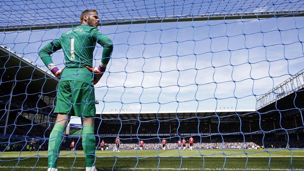Foto: David de Gea defendiendo la portería del United.