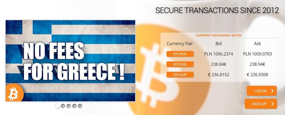 Foto: Oferta en la plataforma polaca Bitcurex