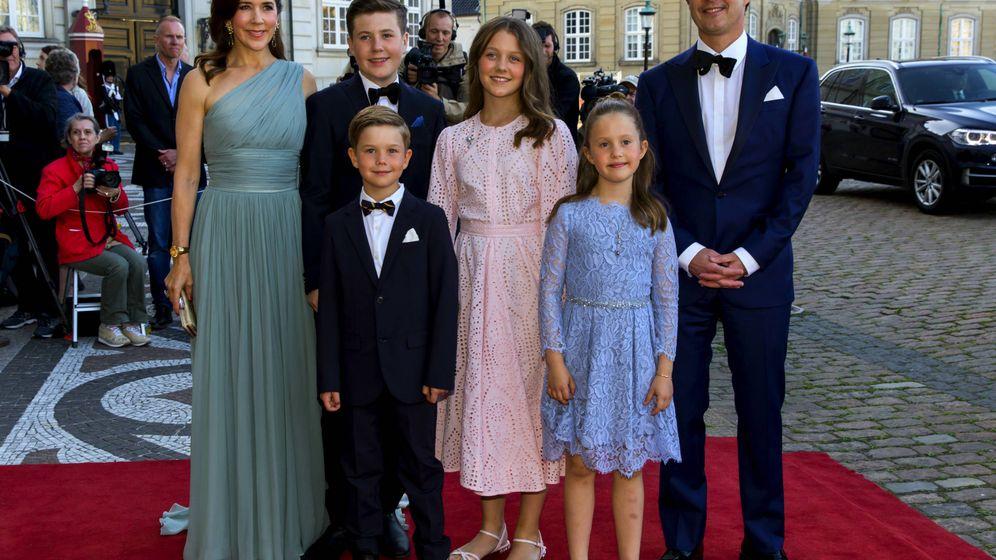 Foto:  Federico y Mary con sus cuatro hijos. (Getty)