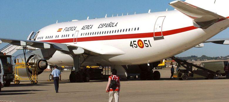 Foto: Fotografía de archivo de un Airbus A-310 de la Fuerza Aérea Española. (EFE)