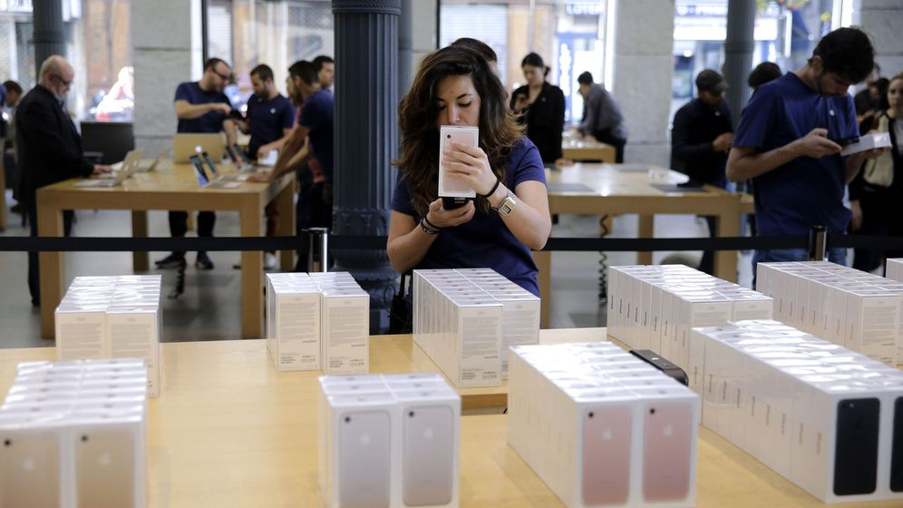 Foto: Tienda Apple en Madrid. (EFE)