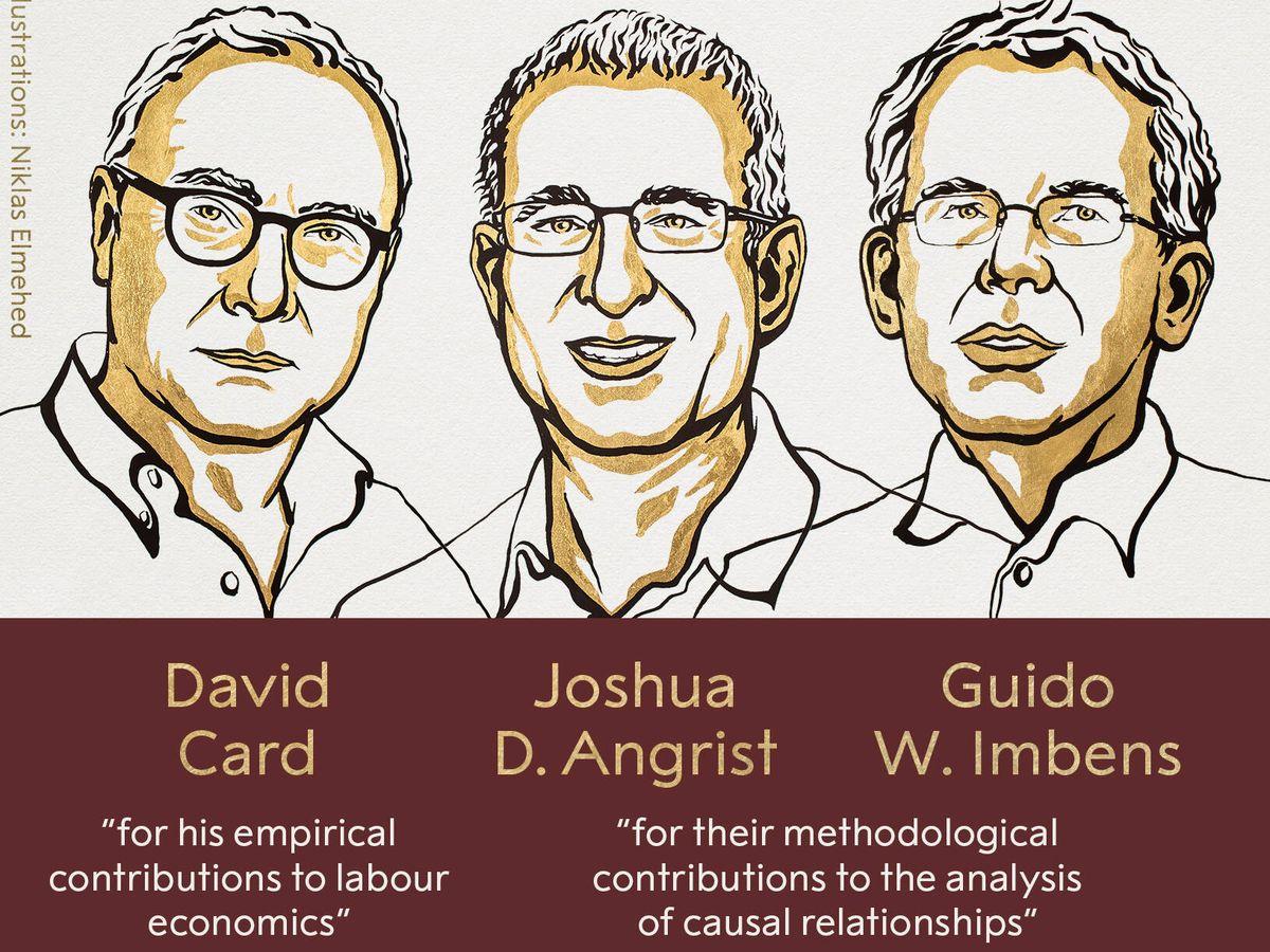 Foto: Premios Nobel de Economía 2021. (The Nobel Prize)