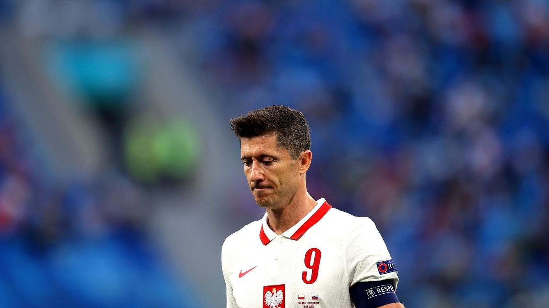 De goleador voraz a la sequía: Lewandowski no es Morata, pero preocupa igual en Polonia