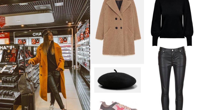 Lovely Pepa combate los cambios de temperatura de los aeropuertos con este abrigo. (Instagram)