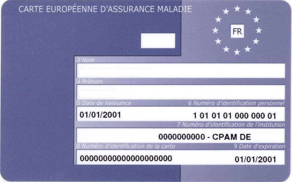 Foto: Tarjeta Sanitaria Europea expedida en Francia (CC)