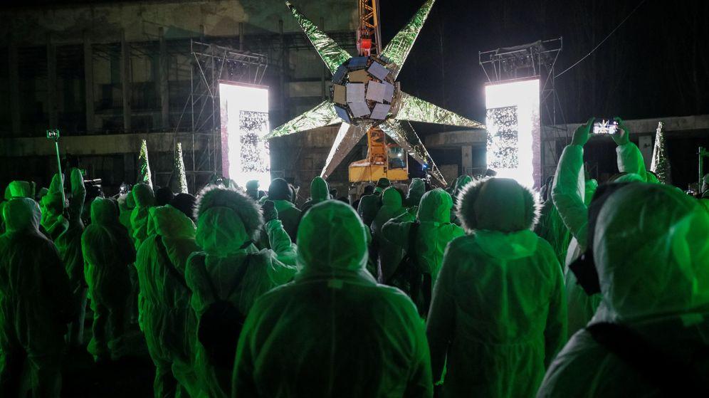 Foto: 'Artefact', la escultura digital de Chernóbil (Reuters/Gleb Garanich)