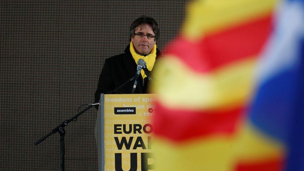 Foto: Puigdemont en un acto en Bruselas. (Reuters)