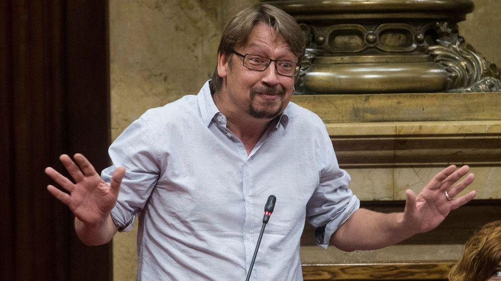Foto: Xavier Domènech en el Parlament el pasado junio. (EFE)