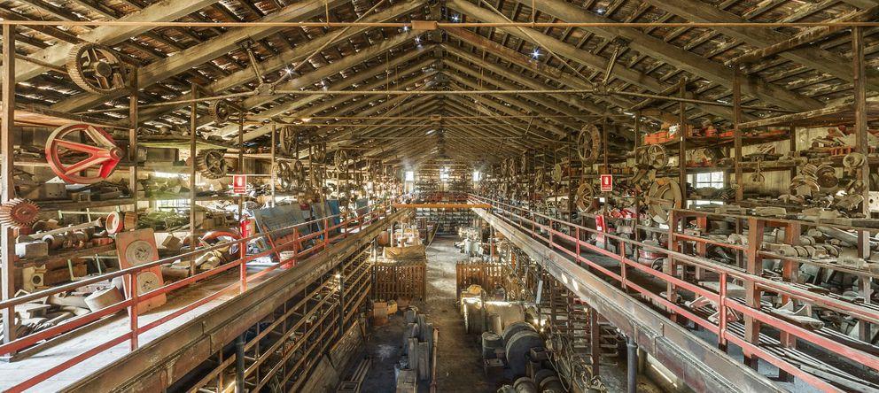 Foto: Zona de modelos y máquinas de la fábrica Averly