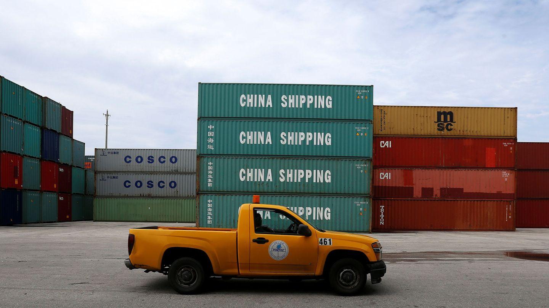 Contenedores chinos en el puerto de Miami. (Reuters)