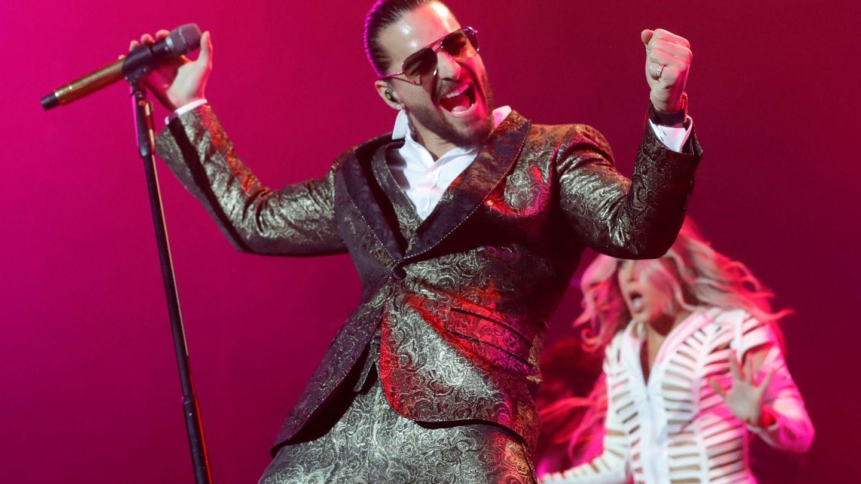 Maluma en su concierto en el Wizink Center de Madrid. (EFE)