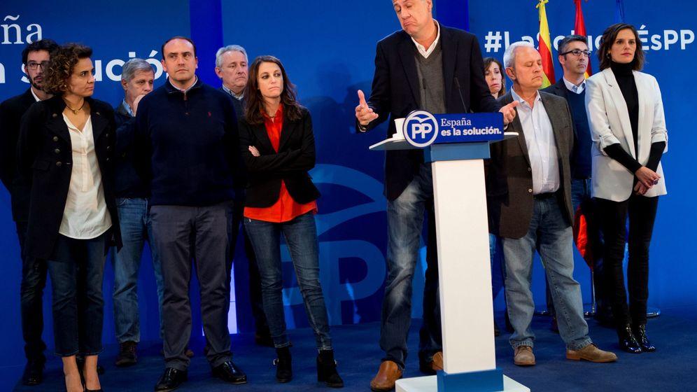 Foto: Xavier García Albiol, tras conocer los resultados de las elecciones catalanas. (EFE)