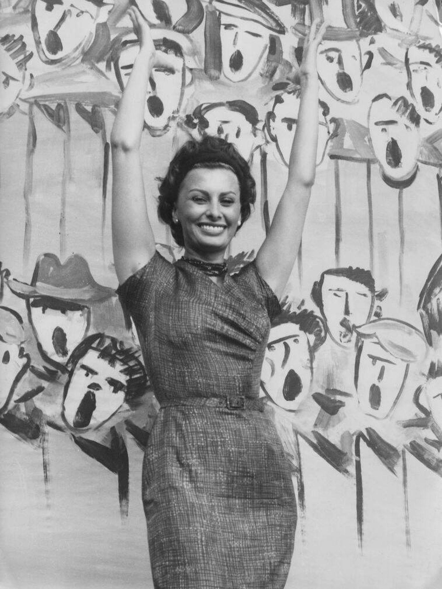 Sophia Loren en el Festival de Venecia de 1958. (Getty)
