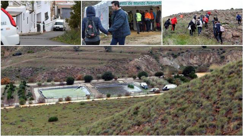 Imágenes del operativo de búsqueda de Gabriel Cruz. (Efe)