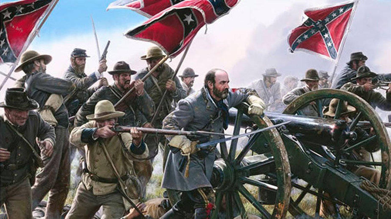 Foto: Confederados en la Guerra de Secesión americana