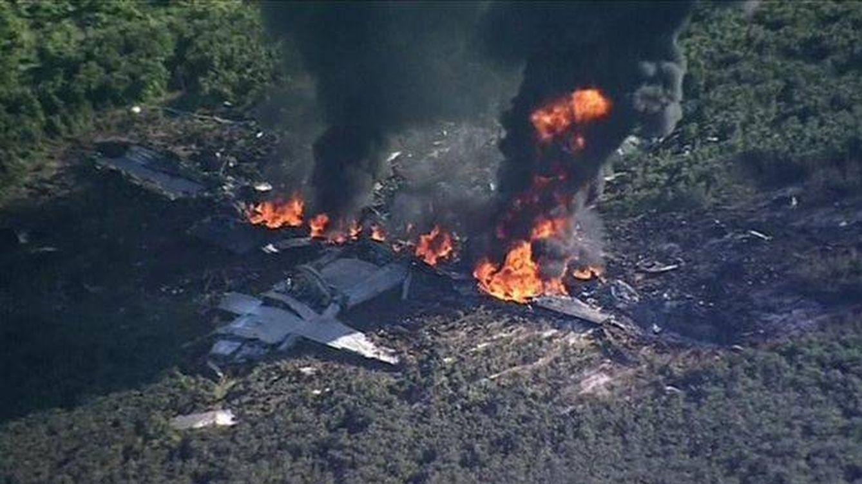 Al menos 16 muertos tras estrellarse un avión militar en Misisipi