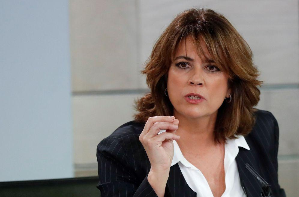 Foto: La ministra de Justicia, Dolores Delgado, durante la rueda de prensa posterior al Consejo de Ministros. (EFE)