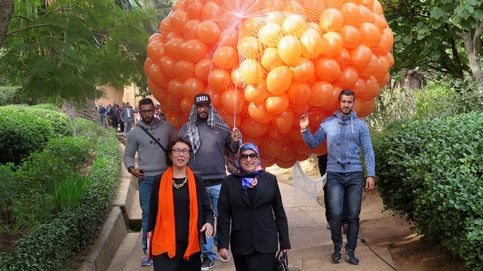 Rabat se llena de globos contra la violencia machista