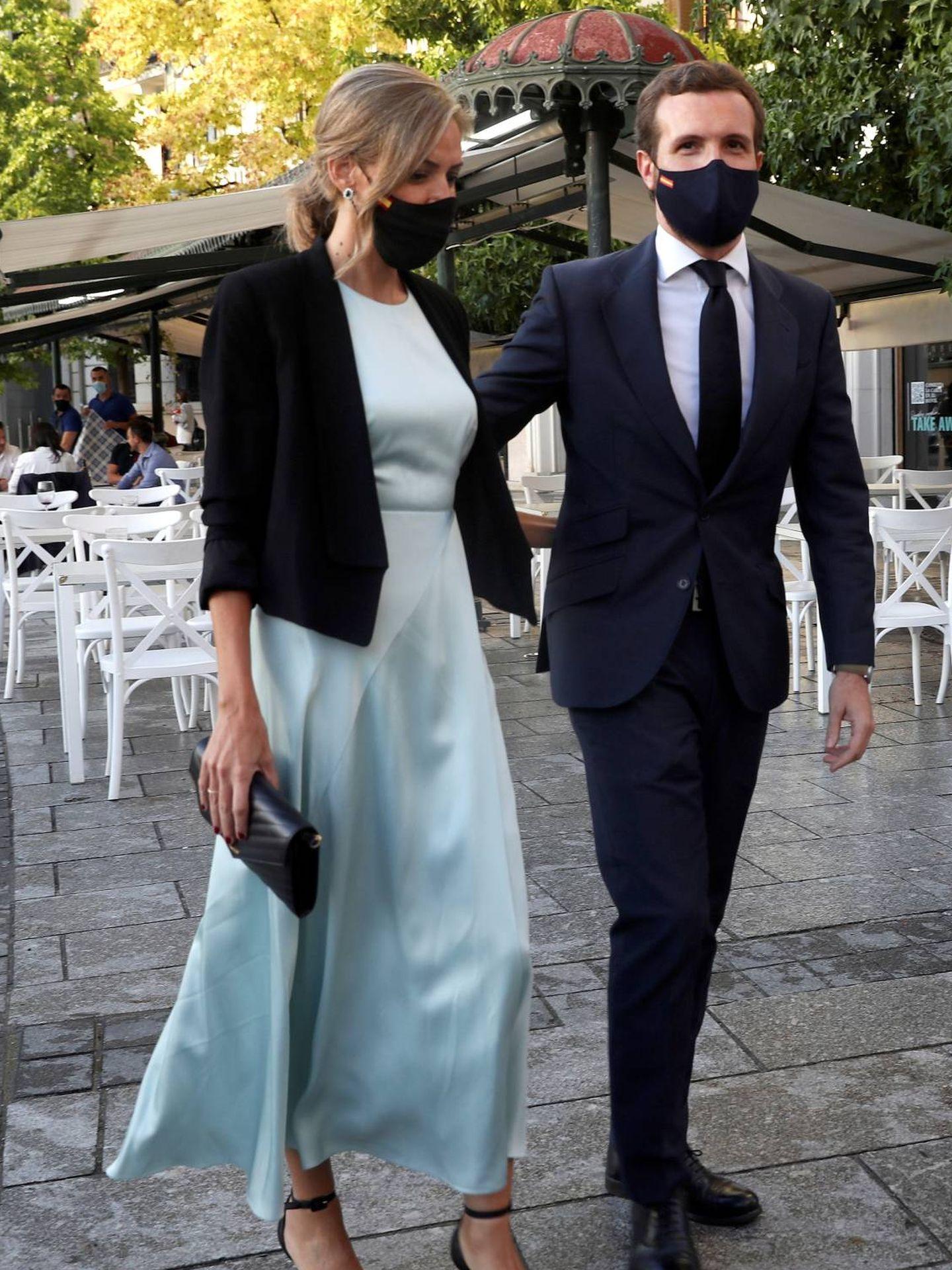 Isabel Torres y Pablo Casado. (EFE)