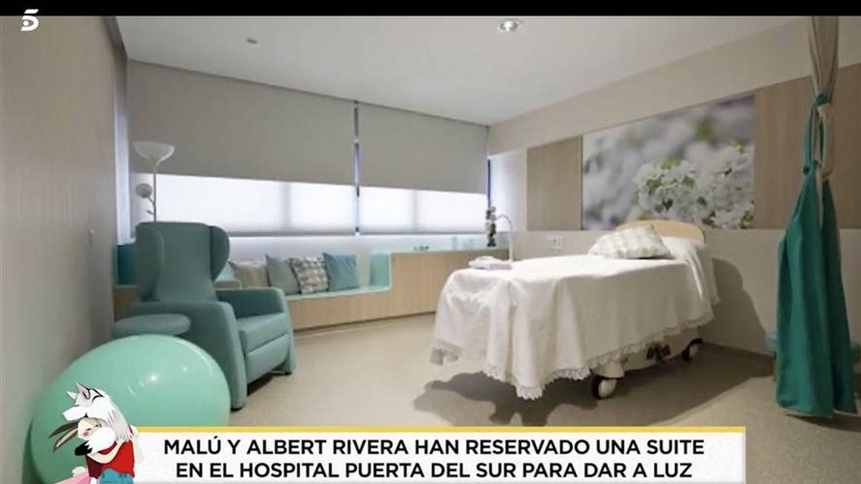 Suite del hospital mostrada por 'Socialité' y que aseguran que han reservado Malú y Rivera. (Telecinco)