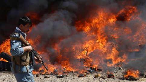 Autoridades afganas destruyen droga incautada