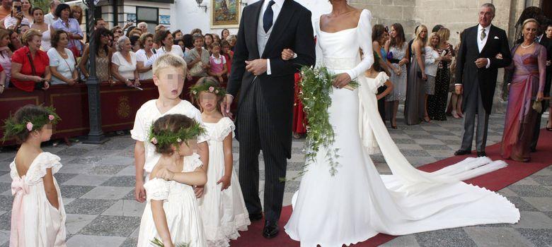 Foto: Inés Domeq y Javier Martínez de Irujo el día de su boda en septiembre de 2008 (I.C.)