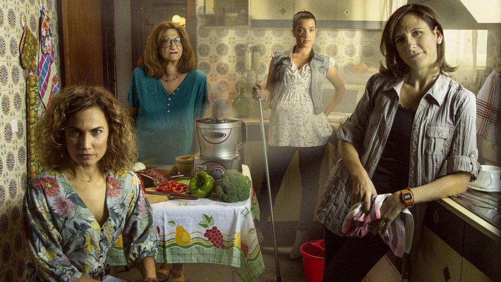 Foto: Póster oficial de la serie 'Señoras del (h)AMPA'. (Telecinco)