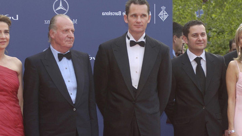 Corinna zu Sayn-Wittgenstein, con el rey Juan Carlos, la infanta Cristina e Iñaki Urdangarin. (Archivo)
