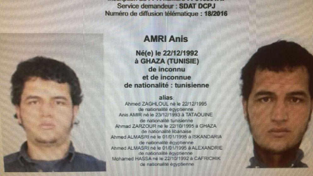 Foto: Orden de búsqueda contra Anis Amri (Reuters)