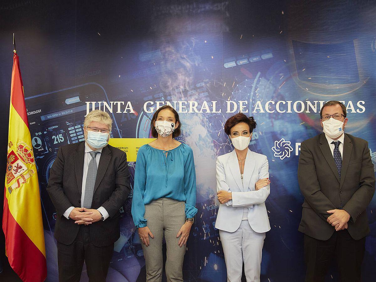 Foto: Reyes Maroto y López del Pozo, en la junta general de accionistas de Pymar.