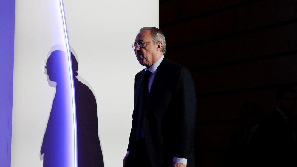 Foto: El presidente de ACS, Florentino Pérez, durante una junta de accionistas de la compañía.