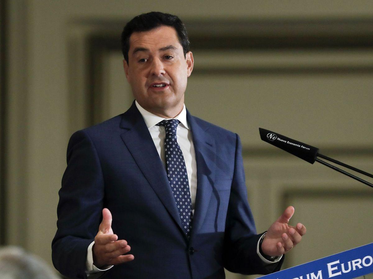 Foto: El presidente de la Junta de Andalucía, Juan Manuel Moreno. (EFE)