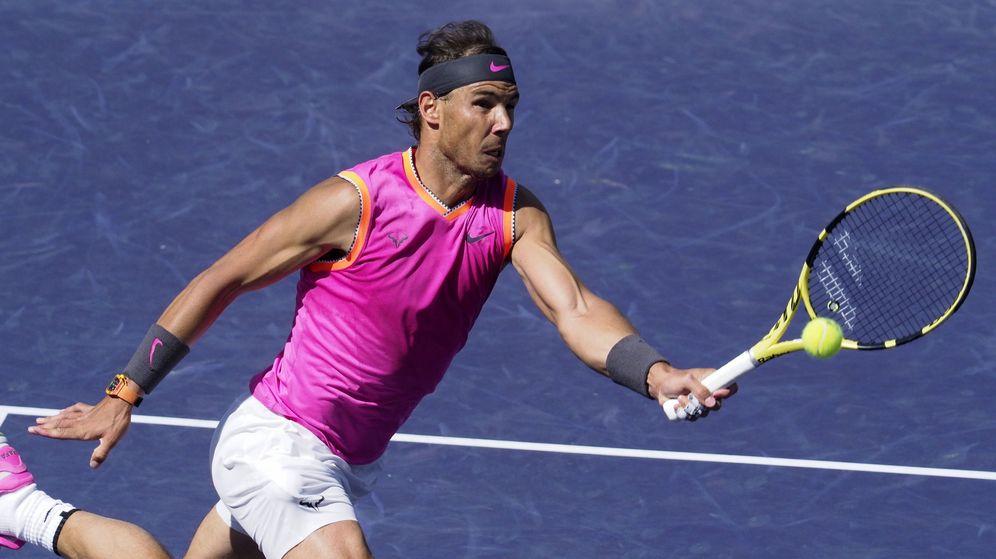Foto: Rafa Nadal sigue sin perder un set en Indian Wells. (EFE)
