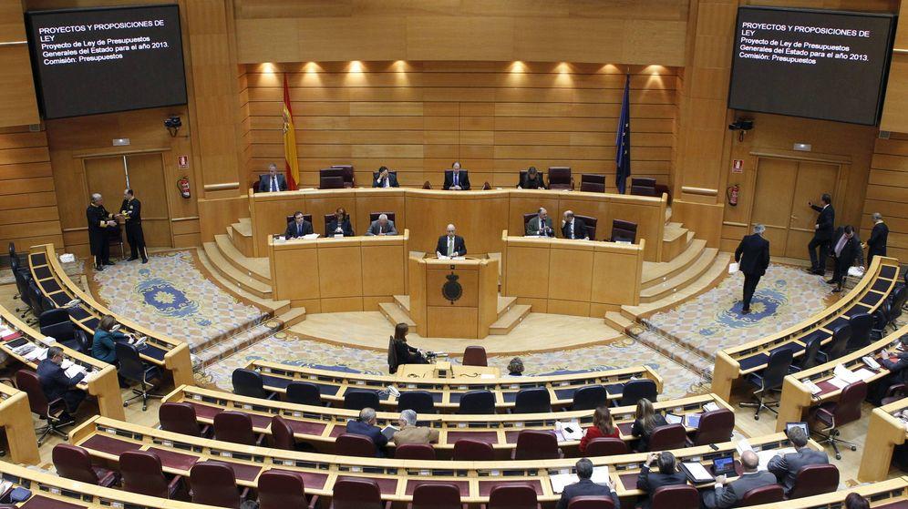 Foto: Vista general de un pleno del Senado. (EFE)