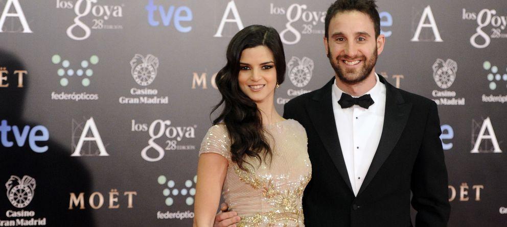 Foto: Los actores de 'Ocho apellidos vascos' Dani Rovira y Clara Lago, en los premios Goya (Gtres)