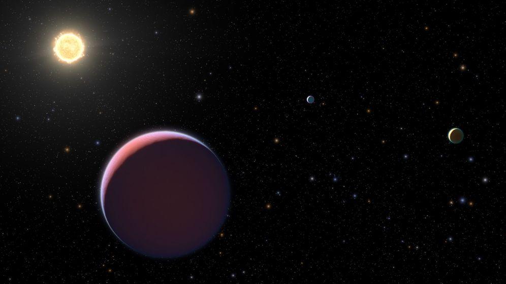 Foto: Ilustración de la NASA que reproduce un planeta tan ligero como el algodón de azúcar. Foto: EFE