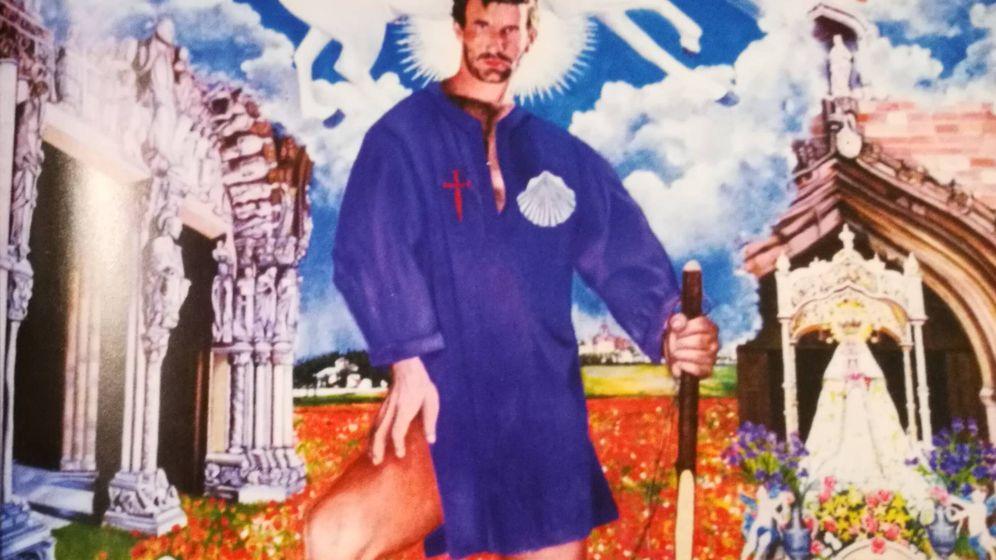 Foto: La alegoría del apóstol Santiago pintada por Antonio Ximénez y donada a la iglesia de Membrilla.
